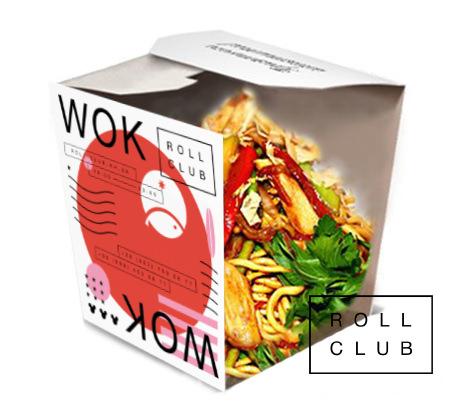 Яичная лапша с курицей и овощами от Roll Club