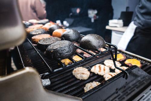 приготовление черного бургера