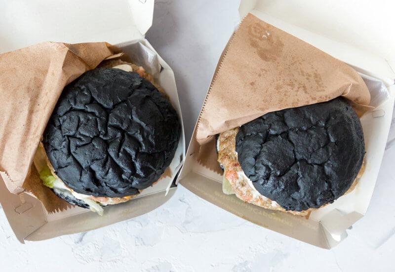 черные булочки для бургера