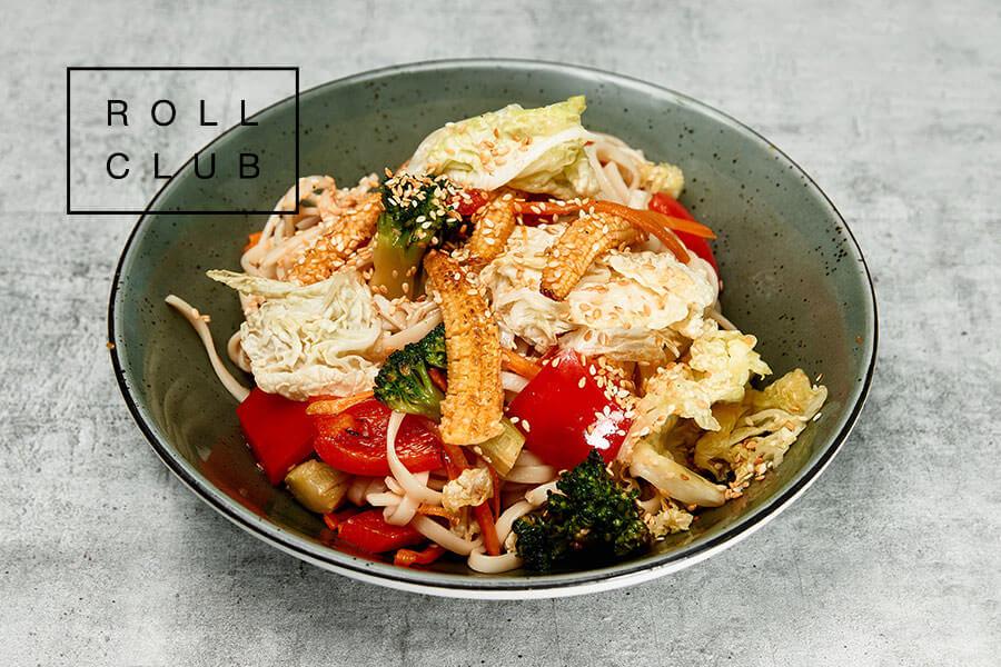 Лапша Удон с овощами и соусом терияки на дом