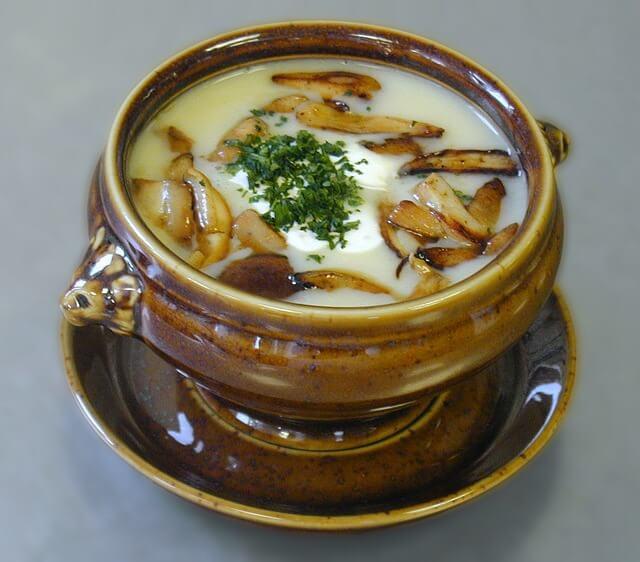крем суп из грибов на дом